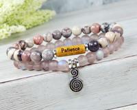 inspirational message bracelet pink jewelry
