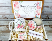 bonus daughter gift basket with pink flowers