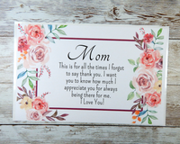 pink flower mom card