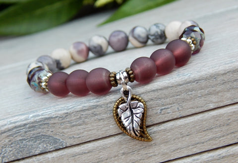 plum and gray bracelet fall jewelry
