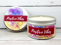 endless summer fragrance candle - positive vibes