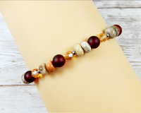 red gemstone bracelet