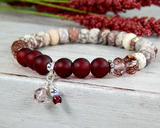 red bracelet jasper jewelry for women