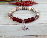 red bracelet handmade gemstone jewelry gifts for her