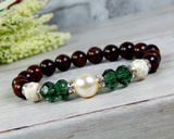 Christmas Jewelry for Women - Holiday Bracelet - Red and Green Jewelry