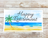 beach themed retirement card