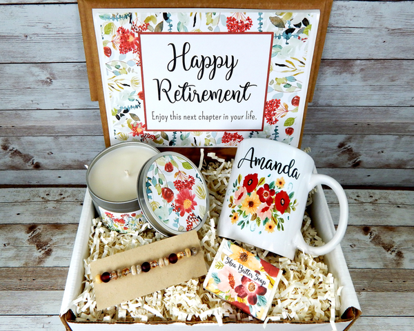 retirement gift basket for women