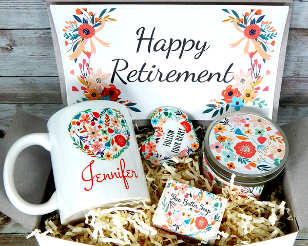 retirement gift basket with beach ocean theme