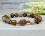 handmade beaded gemstone bracelets for women
