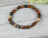 earth bracelet river jasper jewelry tree of life