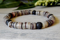 mens beach bracelets with shell