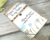 birthday card with bracelet for sisters birthday