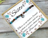 Personalized Gift for Sister – Sister Jewelry – Sister Bracelet