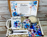 personalized sister gift with coffee mug