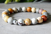 sky eye jasper gemstone beaded bracelets