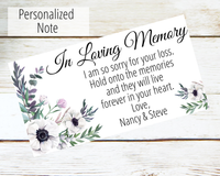 in loving memory greeting card for loss of loved one
