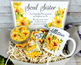 soul sister gift basket sunflowers