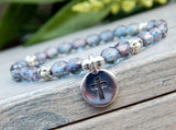spiritual bracelet with cross charm