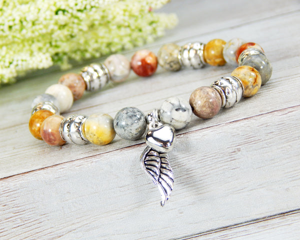 gemstone beaded remembrance bracelet