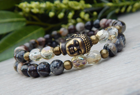 buddha beaded yoga bracelet