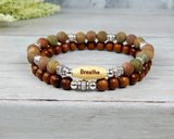 stacking bracelets yoga gifts breathe jewelry