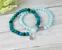 lotus flower bracelet yogi jewelry gift for yoga lover