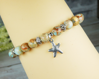 beach themed jewelry ocean bracelet with starfish charm