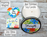 cheer up gift strength inspirational candle