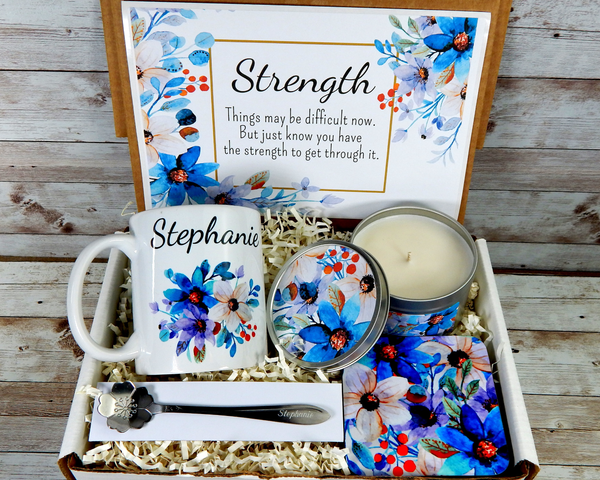 personalized strength gift basket