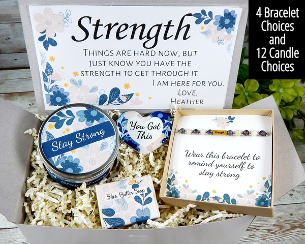 strength gift basket for her gifts of encouragement to send