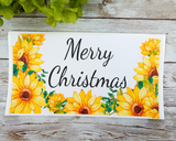 sunflower christmas card