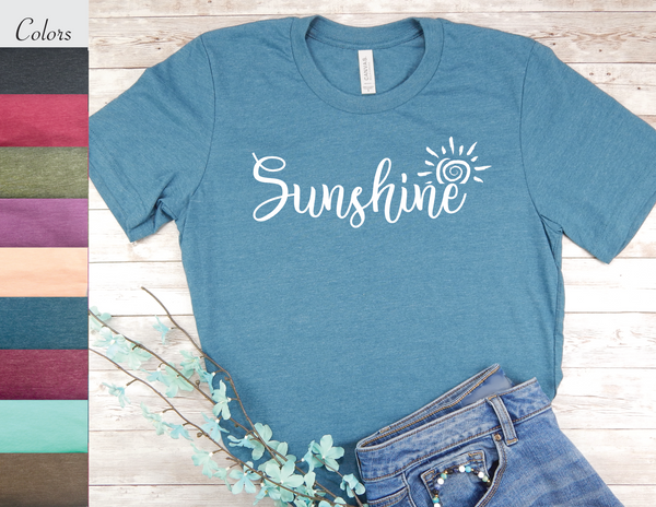 sunshine t-shirt for women inspirational shirts