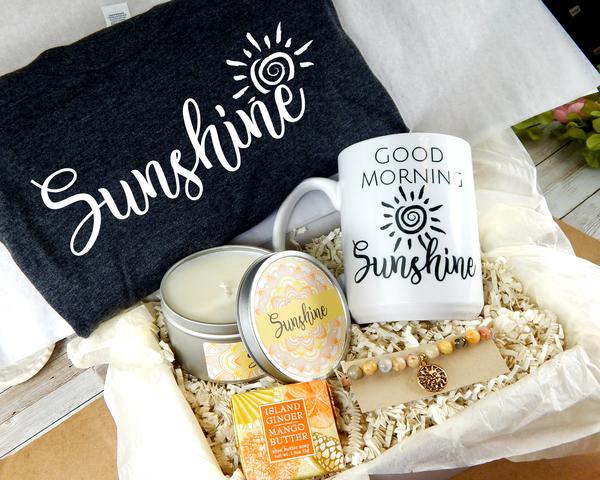 sunshine gift basket for women pick me up gifts
