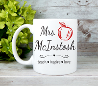 personalized teacher coffee mug