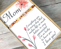 mothers day gift sentimental card with jewelry