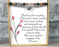 heartfelt jewelry card for mom mothers day gift idea