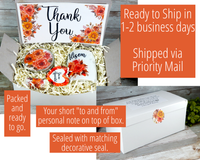 fall thank you gift box to send