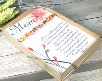 mom card with bracelet for moms birthday