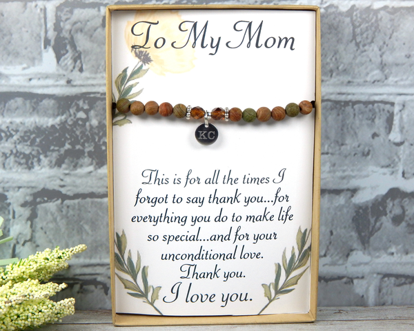 personalized jewelry for mom thank you card for mother