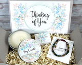 Thinking of You Care Package with Jasper Bracelet and Candle