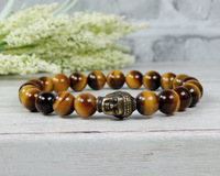 tiger eye buddha bracelet for men