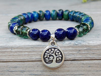 blue and green gemstone bracelet