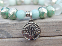 beaded tree bracelet nature jewelry