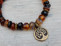 tree charm bracelet with agate