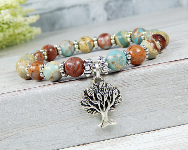 nature lover gift tree of life bracelet for women