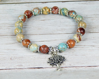 tree of life jewelry for women blue bracelets