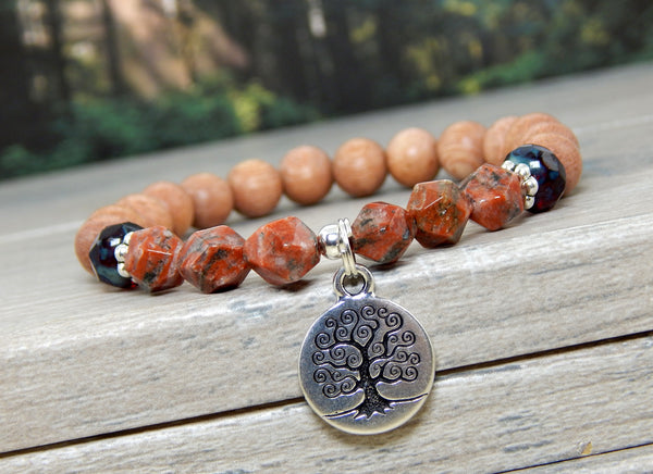 tree of life bracelet nature jewelry