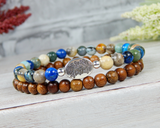 Nature Gifts for Women - Tree Jewelry - Stacking Bracelets