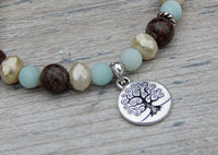 tree of life bracelet nature jewelry gemstone beads amazonite yoga