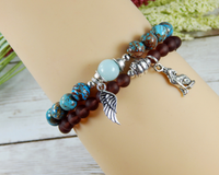 spiritual bracelet angel wing remembrance jewelry
